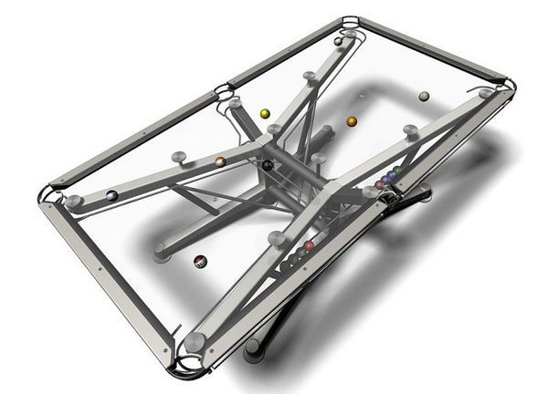 Nottage Design's G-1 Glass Pool Table Goes Modern