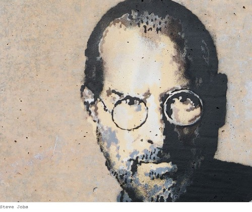 Powerful New Banksy Provides Perspective on Migration Through Steve Jobs' Life