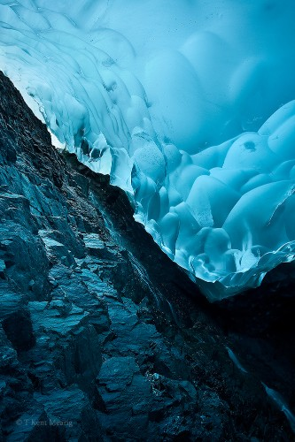 Otherworldly Photos Taken Underneath Mendenhall Glacier