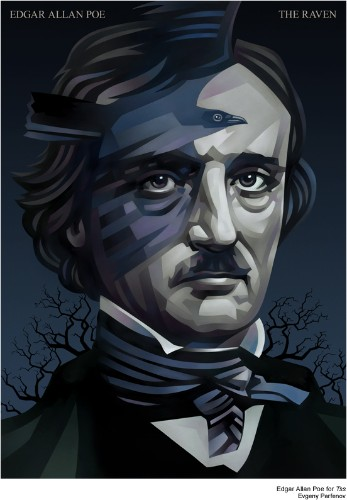 Clever Edgar Allan Poe Illustration by Evgeny Parfenov