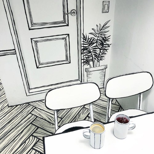Korean Café Makes Visitors Feel Like They've Stepped Into a Cartoon