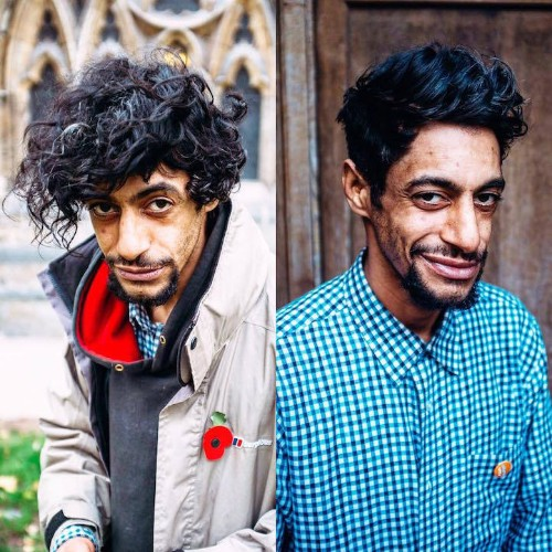 Barber Gives Homeless People Free Haircuts on City Streets to Raise Awareness