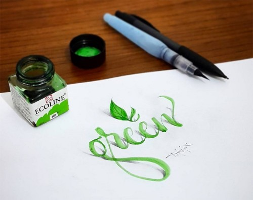 New 3D Calligraphy Creations Look Like They're Popping Off the Page