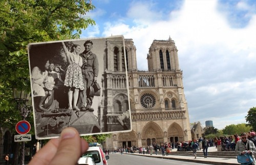 Artist Fuses Vintage Photographs with Present-Day Paris to Make History Come Alive