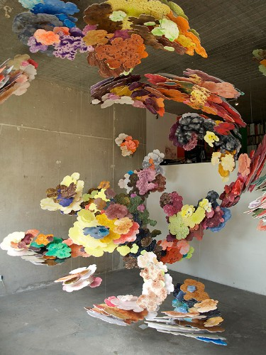 Layered Floating Paintings Inspired by CT Scans