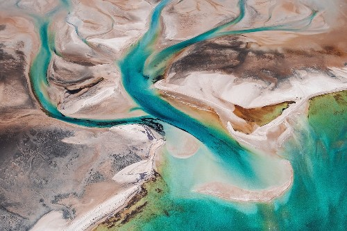 Interview: Naturally Organic Formations of Australia's Shark Bay As Seen From Above