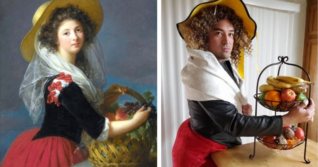 People Are Still Recreating Artwork From Home for the 'Getty Museum Challenge'