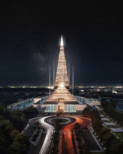 Stunning Pyramid-Themed Skyscraper Planned for Cairo's Skyline