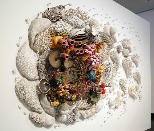 Large Coral Reef Sculpture Raises Conservation Awareness