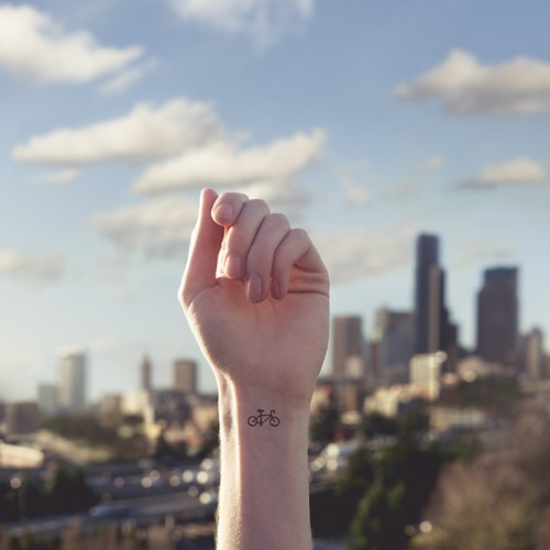 "Quirky ""Tiny Tattoos"" Paired with Paralleled Landscapes"