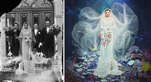 Artist Turns Historical Photos into Colorfully Whimsical Composites