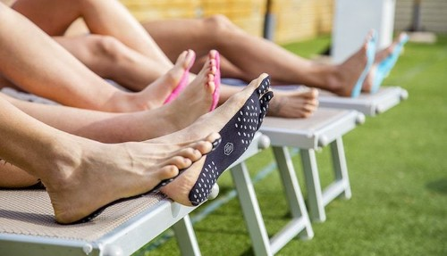 Stick-On Soles Take the Place of Flip Flops for Flexible Beach Wear