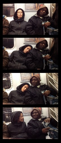 Priceless Reactions of Subway Riders When Suddenly Slept Upon