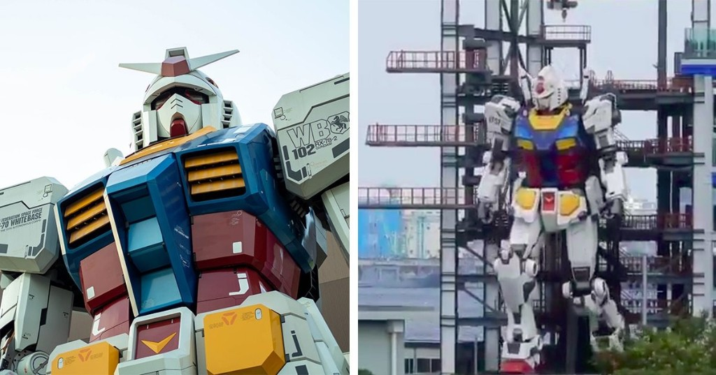 Japan's 60-Foot-Tall 'Gundam' Robot Can Now Walk, Kneel, and Turn Its Head