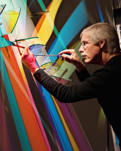 """Artist Creates Prismatic """"Paintings"""" on Museum Walls with Refracted Light"""