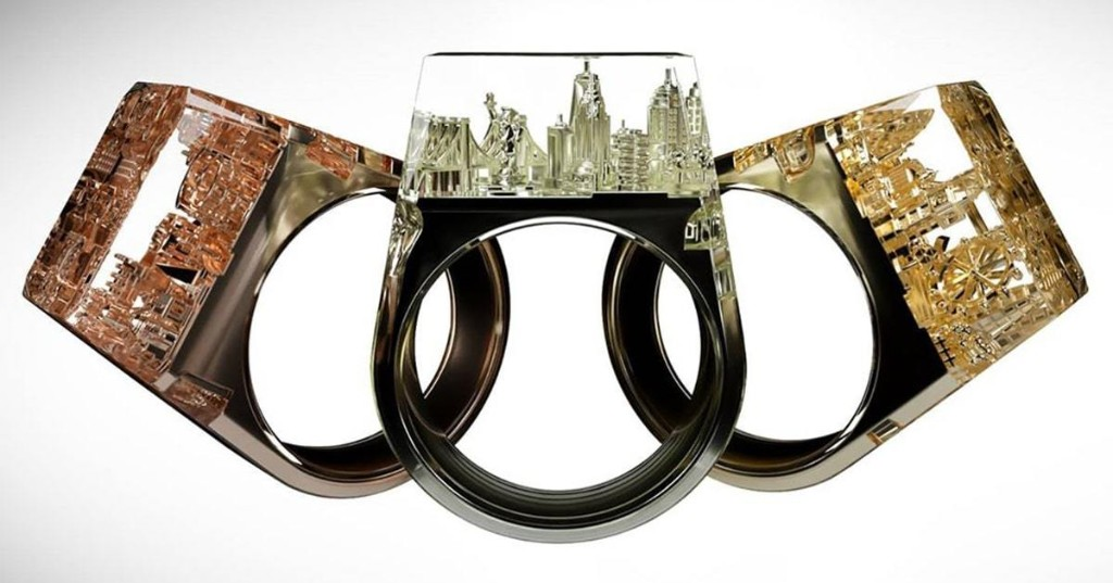 Stunning Architecture Rings Contain Entire City Skylines Within Them