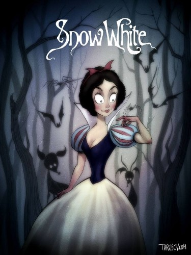 Classic Disney Characters Reimagined in the Beautifully Eerie Style of Tim Burton