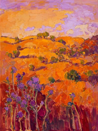 Vibrant Landscape Paintings Use the Color Orange to Capture the Warm Glow of the American West