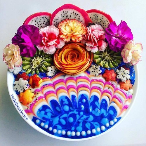 Psychedelic Smoothie Bowls are Contemporary Pop Art Food
