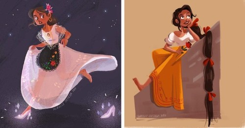 Imaginative Illustrations Blend Famous Fairytales With Mexican Folklore