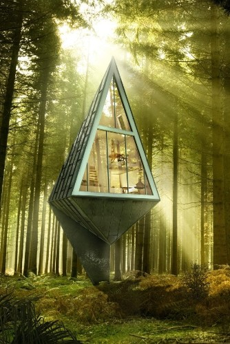 Modern Eco-Friendly Homes Set Amongst the Trees