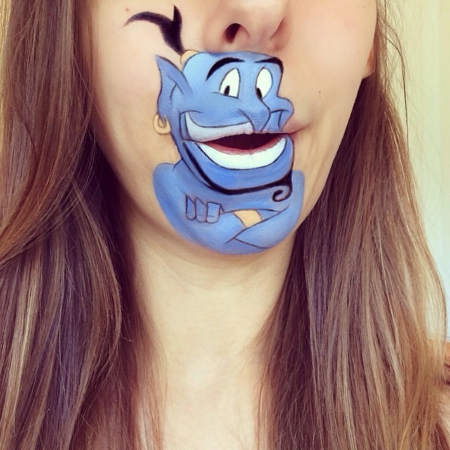 Makeup Artist Paints Her Chin and Mouth to Look Like Cartoon Characters