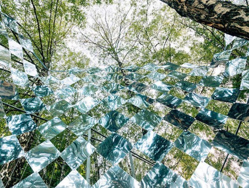 Mind-Bending Installation Constructed with 1,200 Small Mirrors