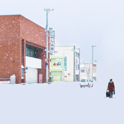 Train Passenger Captures Surreal Photos of Hokkaido Blanketed in Snow