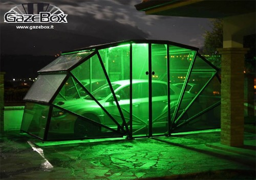 Foldable Transparent Carport Protects and Shows Off Prized Vehicles