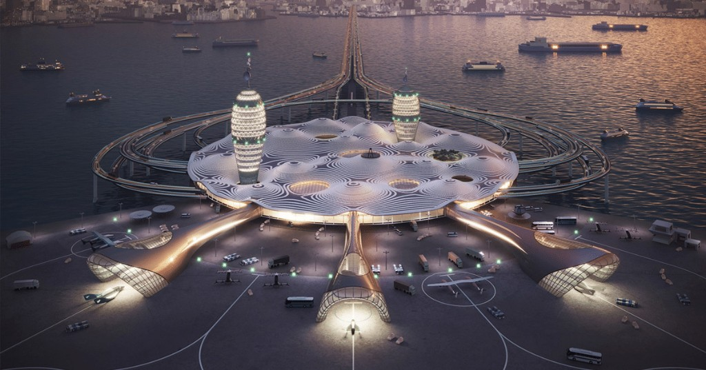 Architects Design Futuristic 'Spaceport City' for Commercial Space Travel