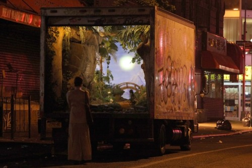 Banksy's NY Delivery Truck Turned Enchanting Garden Installation