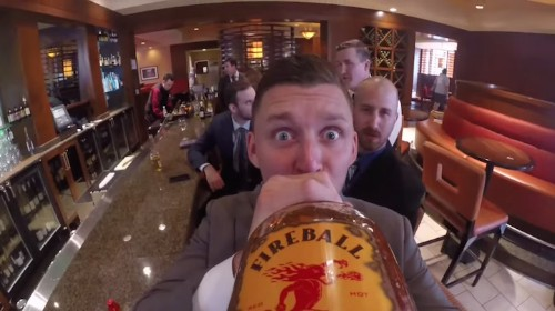 Unforgettable Wedding Gift Created with a GoPro Camera Taped to a Bottle of Whiskey