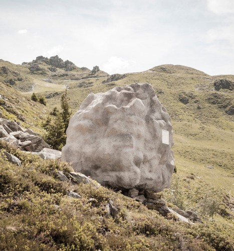 Boulder-Shaped Cabin Perfectly Camouflages in Swiss Alps