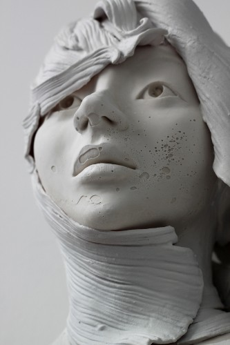 Neo-Romantic Sculptures of Different Women Made with Same Bust