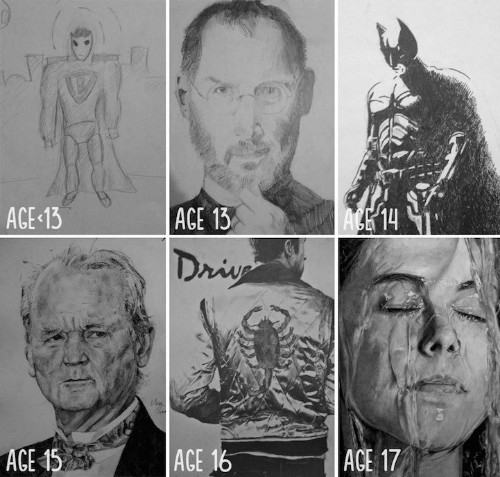 "Artists Share ""Before and After"" Evolution of Their Drawing Skills with Years of Practice"