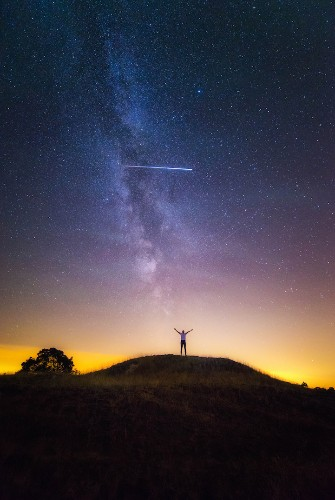 Photographer Accidentally Captures Rare Sight of the ISS in a Stunning Milky Way Image