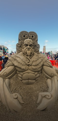 Incredible Sculptures at New Zealand Sandcastle Competition