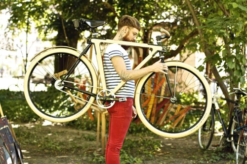 Seriously Stylish Wooden Framed Bicycles