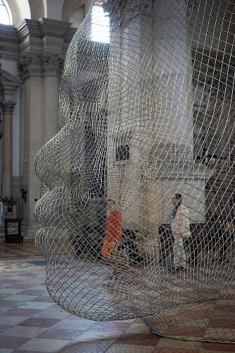 Beautiful Light-Catching Sculptures by Jaume Plensa in 400-Year-Old Church of San Giorgio Maggiore