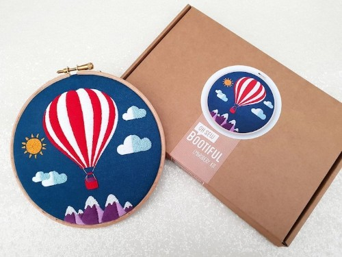 DIY Hot Air Ballon Embroidery Kit to Hone Your Craft with Flying Colors