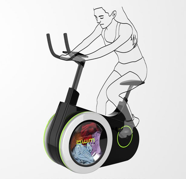 Innovative Bike Doubles as Washing Machine to Clean Your Clothes as You Exercise