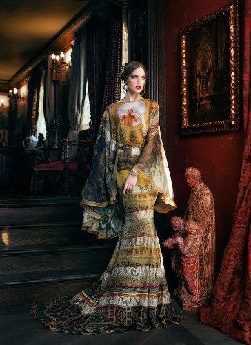 Gorgeous Gowns Are Unconventional Canvases Covered in Classical Paintings