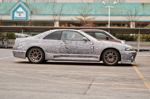Artist Uses Sharpie to Cover Husband's Skyline GTR with Stunningly Intricate Designs