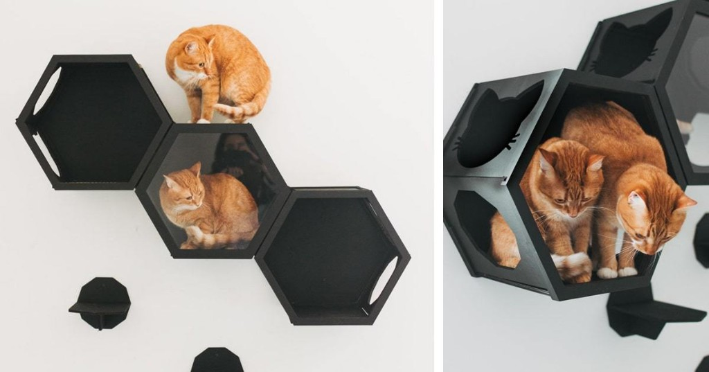 Modular Cat Furniture Doubles as Chic Wall Art That Pet Parents Will Love