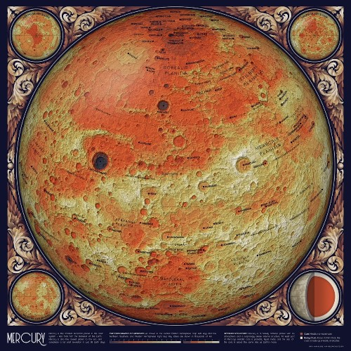 Vintage Style Astronomy Maps Made from Open Source Data of the Universe