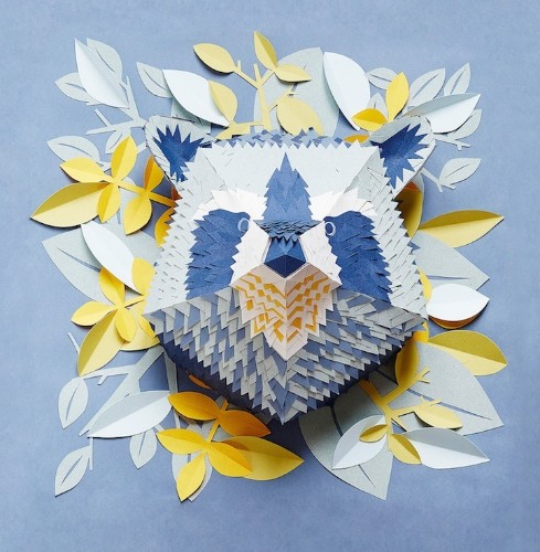 French Artist Creates Beautifully Intricate Paper Masks of Animal Faces