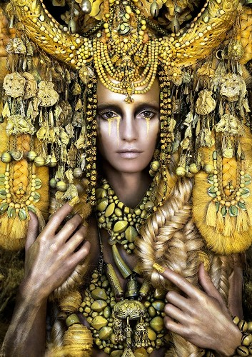 Kirsty Mitchell's Intricately Adorned Goddesses of Wonderland