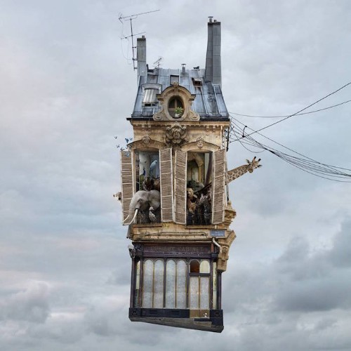 New Surreal Flying Houses Tell Fascinating Stories