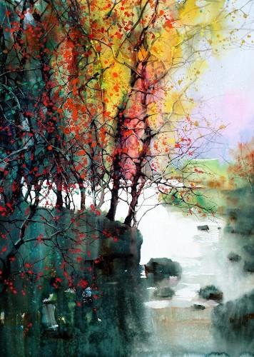 Beautiful Watercolor Landscapes (12 pieces)