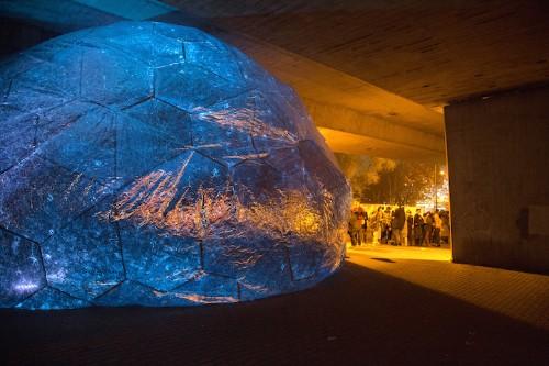 Inflatable Planetarium Has All-Encompassing View of Cosmos